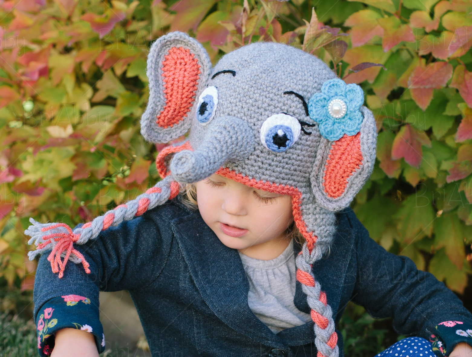 PATTERN Instant Download, Newborn-12 Months Elephant Hat and ... | 1182x1561
